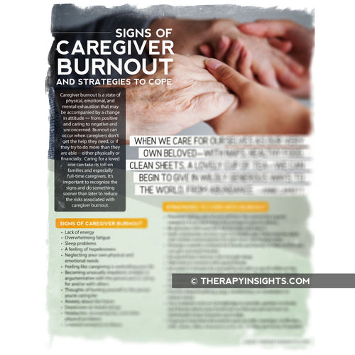 Handout: Caregiver Burnout Signs and Strategies