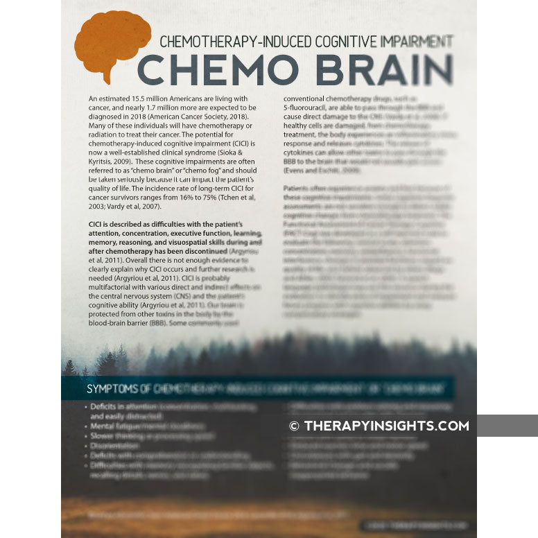 Handout: Chemotherapy-Induced Cognitive Impairment (Chemo Brain)