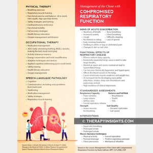 Handout: Management of the Client with Compromised Respiratory Function