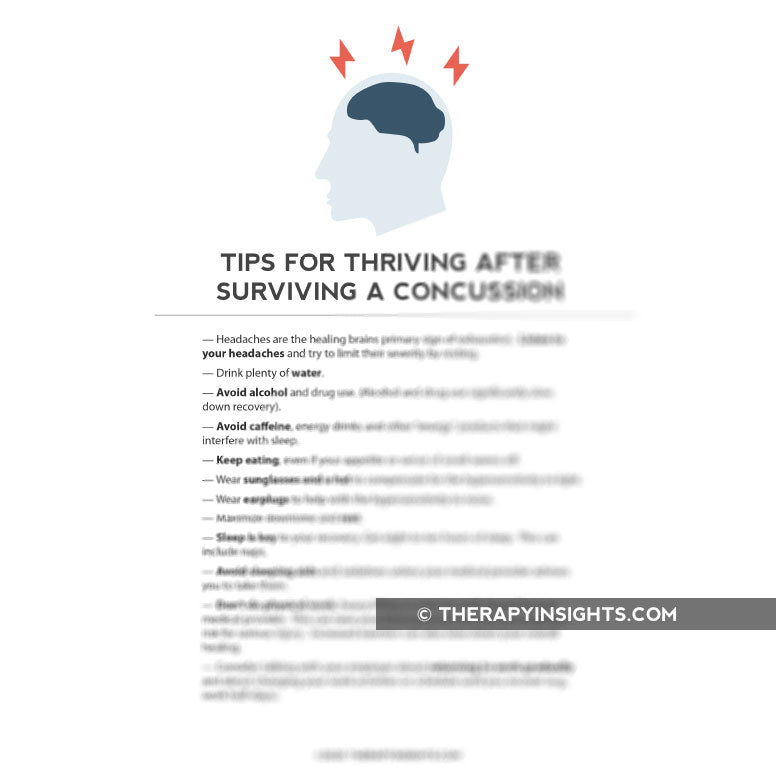 Tips for Thriving After Surviving a Concussion