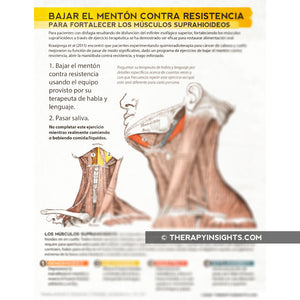 Dysphagia Intervention: Chin Tuck Against Resistance (CTAR) - in English or Español