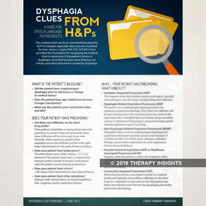 Dysphagia Bundle: Dysphagia Resources for Clinicians