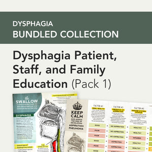 Med SLP Bundle: Dysphagia Patient, Staff, and Family Education (Pack 1)