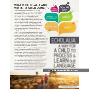 Handout: What is Echolalia and Why is My Child Using It?