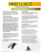Mindfulness Exercise for Speech-Language Pathologists - Before a care conference - Therapy Fix - SLP Insights