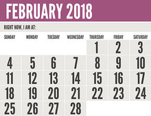 Monthly Calendar for people with visual imairments - Therapy Fix - SLP Insights