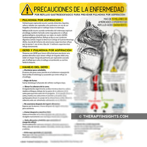 Handout: GERD Precautions to Prevent Aspiration Pneumonia - In English or Español