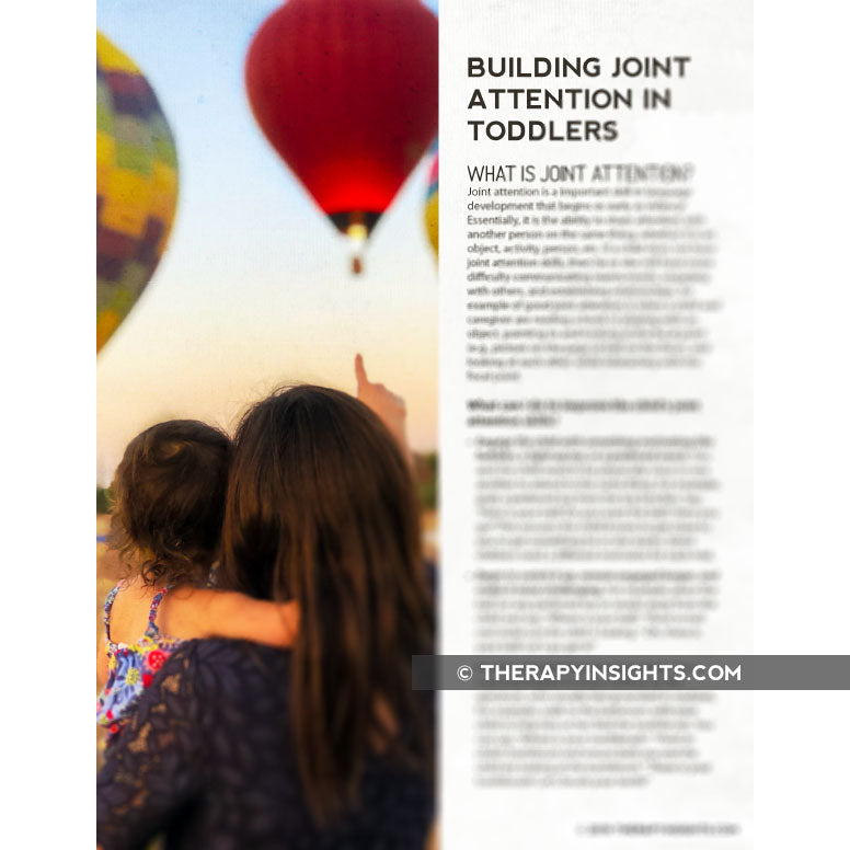 Building Joint Attention in Toddlers