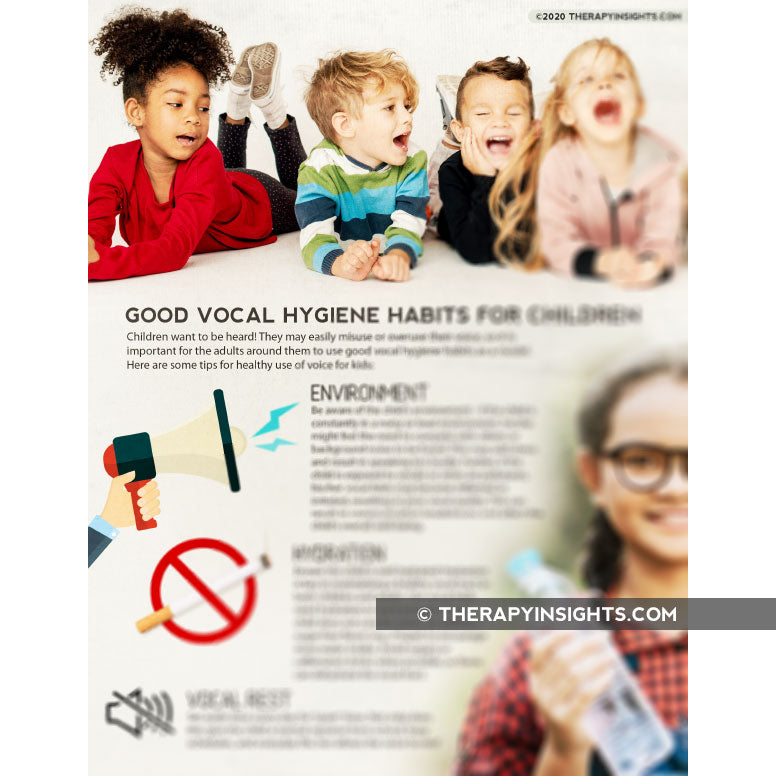 Load image into Gallery viewer, Handout: Good Vocal Hygiene Habits for Children