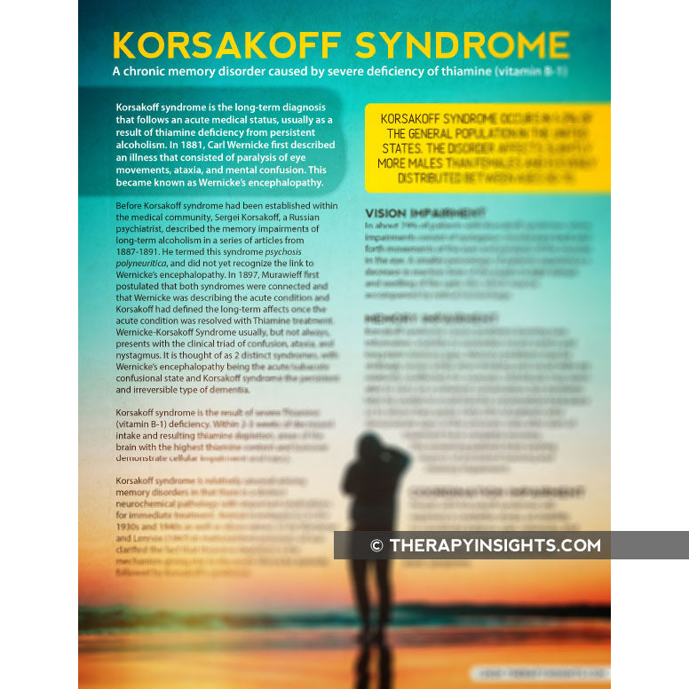 Load image into Gallery viewer, Handout: Korsakoff Syndrome