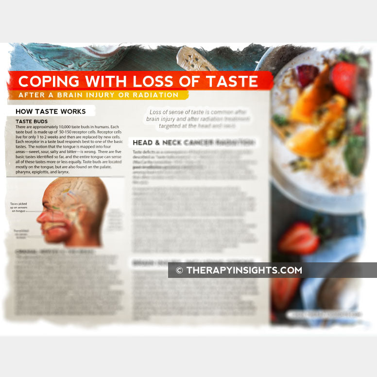 Loss of taste after a brain injury