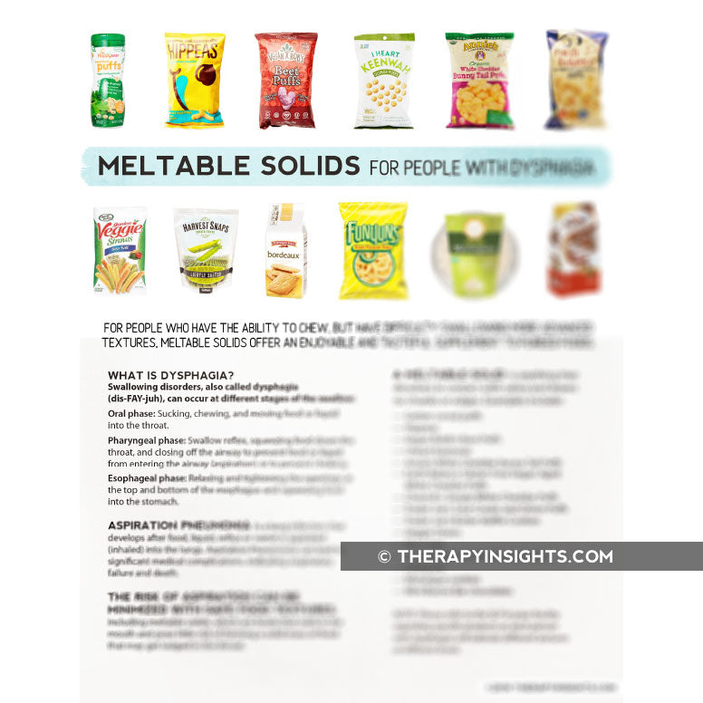 Handout: Meltable Solids for People with Dysphagia