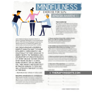 Mindfulness Exercise for SLPs: Aphasia Awareness