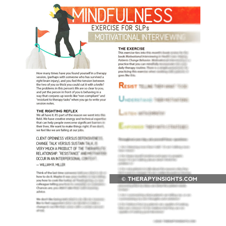 Mindfulness Exercise for SLPs: Motivational Interviewing