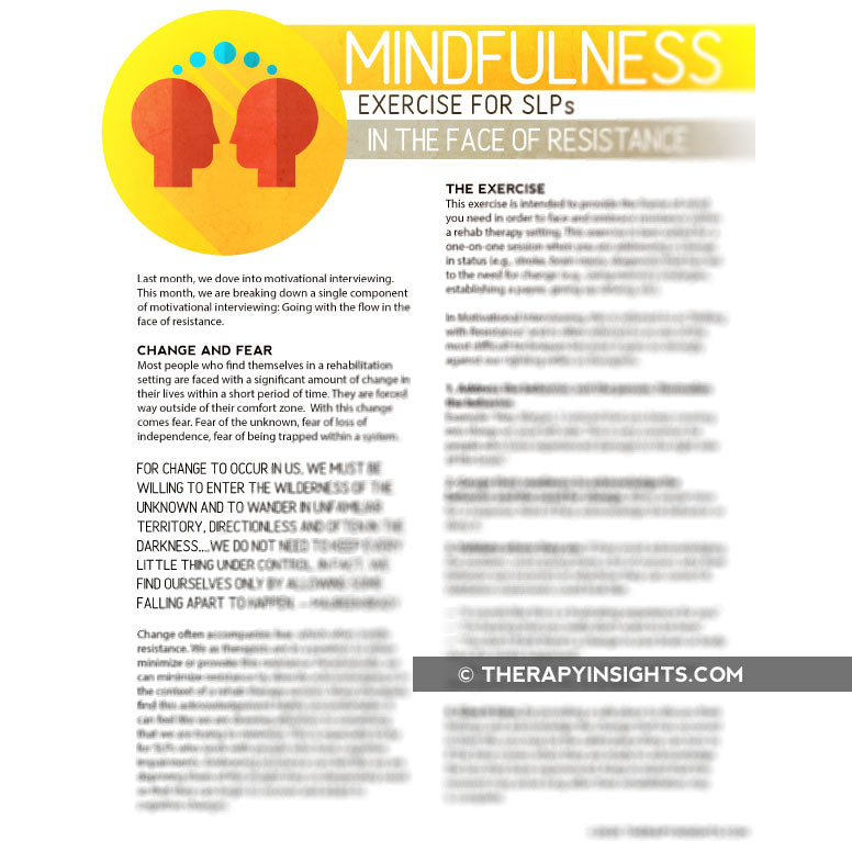 Mindfulness Exercise for SLPs: In the Face of Resistance