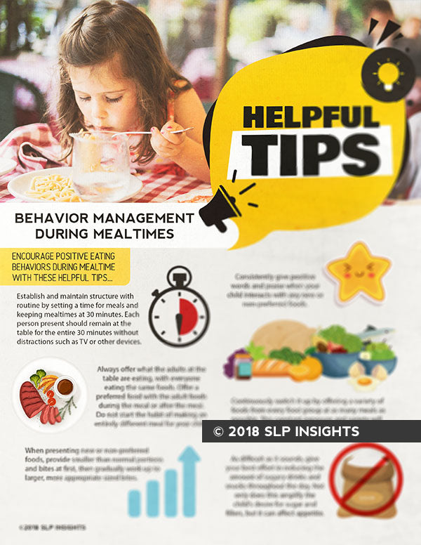 SURPLUS SALE - Handout: Helpful Tips for Behavior Management at Meals