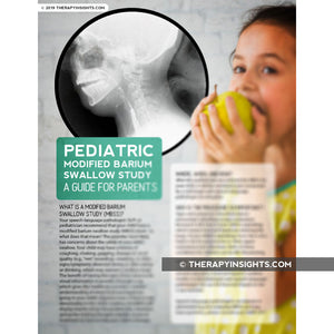 Pediatric Handout: What to Expect During a Pediatric MBSS