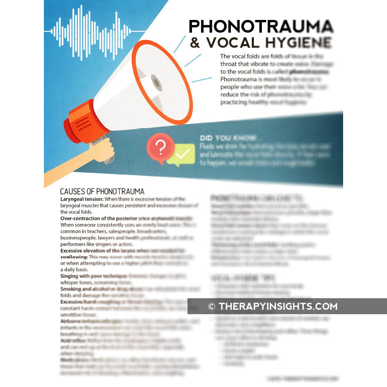 Handout: Phonotrauma and Vocal Hygiene