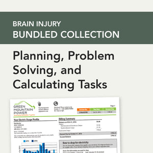 Brain Injury Bundle: Cognitive-Linguistic Planning, Problem Solving, and Calculating Tasks