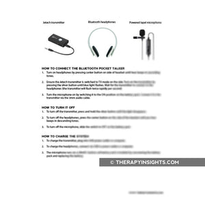 Wireless Pocket Talker Instructions