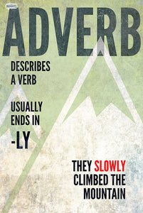 8 parts of speech posters - adverb - SLP Insights