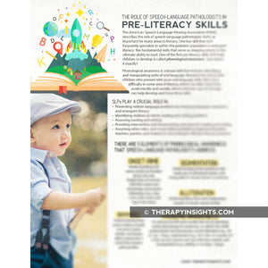 Handout: The Role of Speech-Language Pathologists in Pre-Literacy Skills