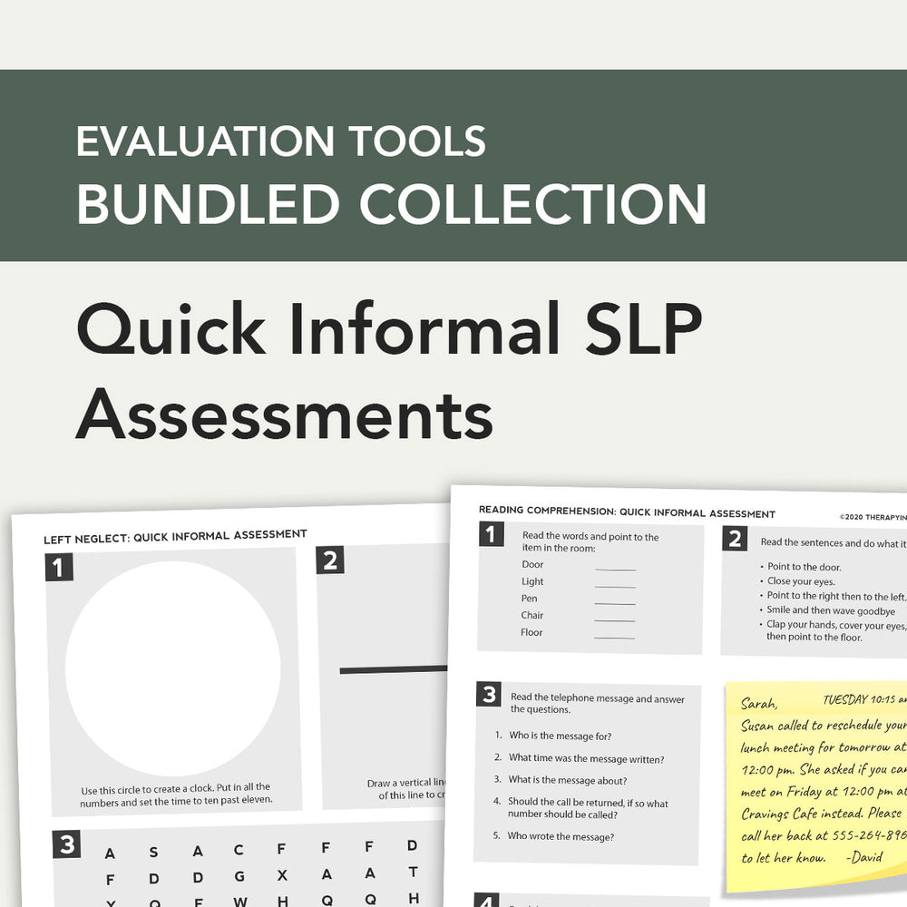 Load image into Gallery viewer, Evaluation Bundle: Quick Informal SLP Assessments