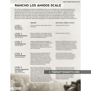 Handout: Rancho Los Amigos Scale for Families
