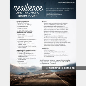 Handout: Resilience and Traumatic Brain Injury