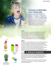 Tongue exercises for toddlers - Therapy Fix - SLP Insights