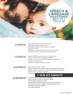 Pediatric SLP Bundle: Pediatric Language Development