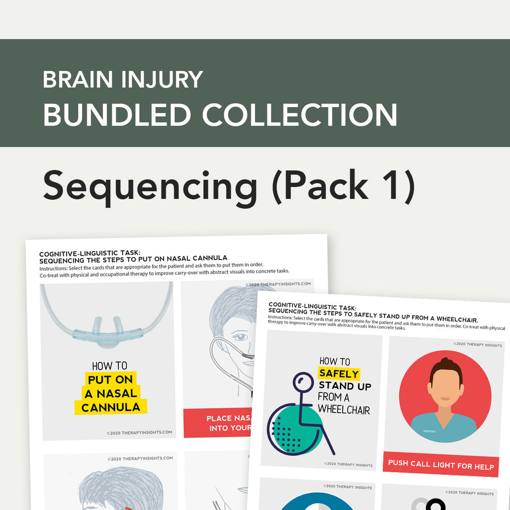 Load image into Gallery viewer, Med SLP Bundle: Cognitive-Linguistic Sequencing (Pack 1)