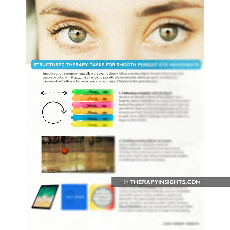 Structured Therapy Tasks for Smooth Pursuit Eye Movement