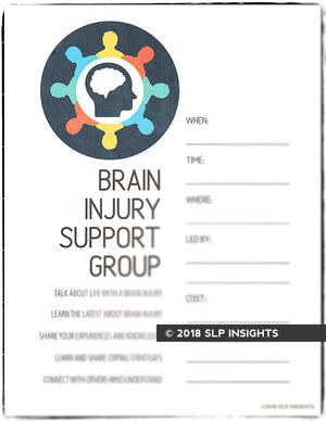 Med SLP Bundle: Brain Injury Handouts (Pack 1)