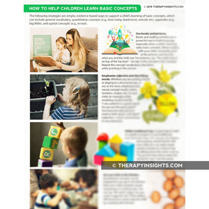 Pediatric Handout: Helping Children Learn Basic Concepts