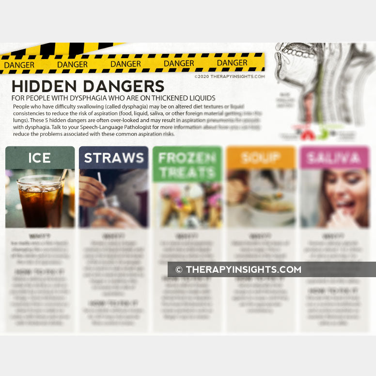 Handout: Hidden Dangers for People with Dysphagia on Thickened Liquids