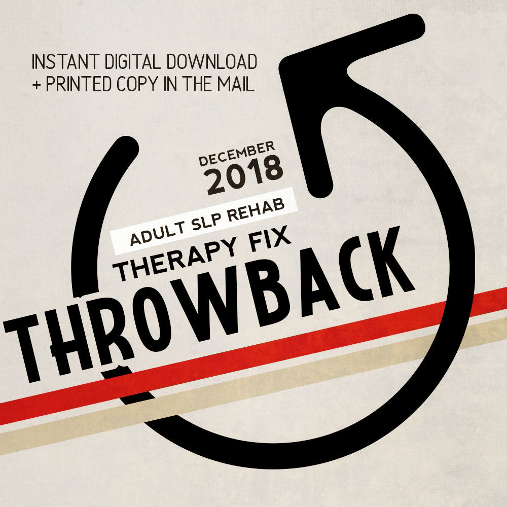 Therapy Fix Throwback: December 2018 Re-Print