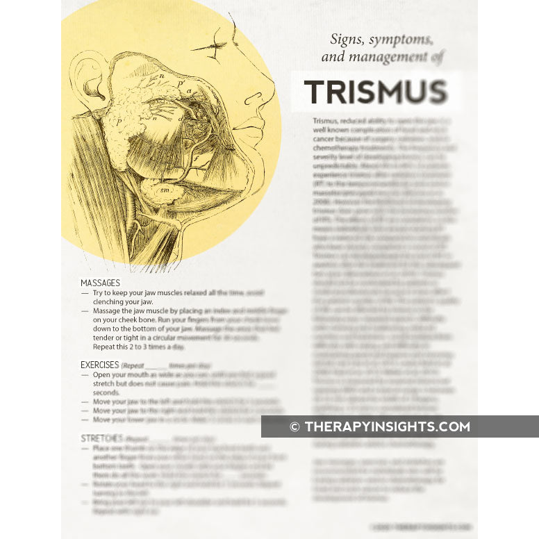 Handout: Signs, Symptoms, and Management of Trismus