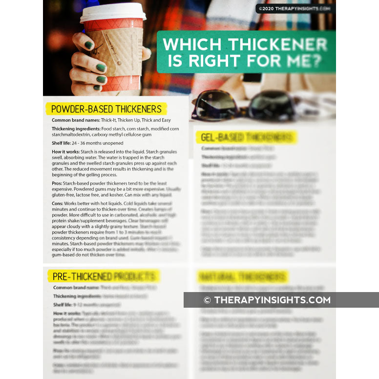 Handout: Which Thickener is Right for Me?