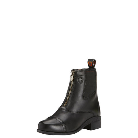 ARIAT KIDS' Devon III Zip Paddock Boot- Black