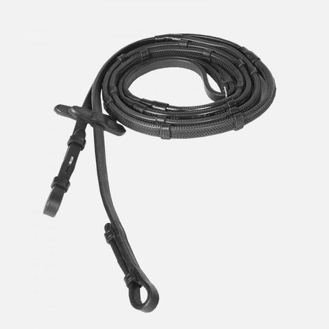 Horze Soft Grip Rubber Reins - Stoppers