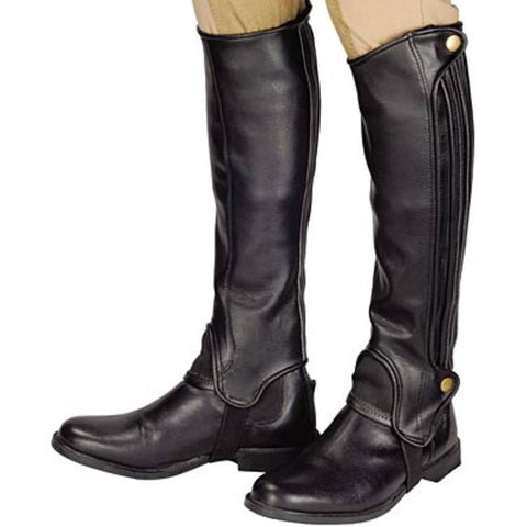 Leather Half Chap Black Can-Pro