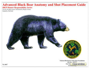 Advanced Bear Anatomy and Shot Placement Guide, w/overlays