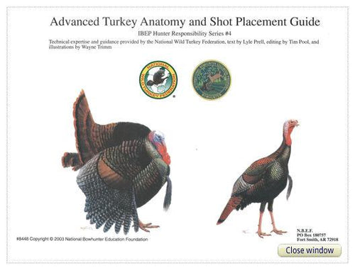 Advanced Turkey Anatomy and Shot Placement Guide, w/overlays
