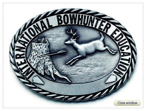 International Bowhunter Education Pewter Belt Buckle