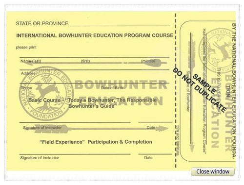 IBEP NBEF Student Record Card