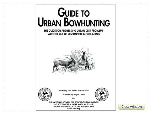 Urban Bowhunting Guide Book - National Bowhunter Education Foundation