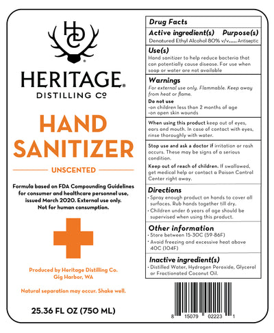 750ml Hand Sanitizer Case - 12 Count