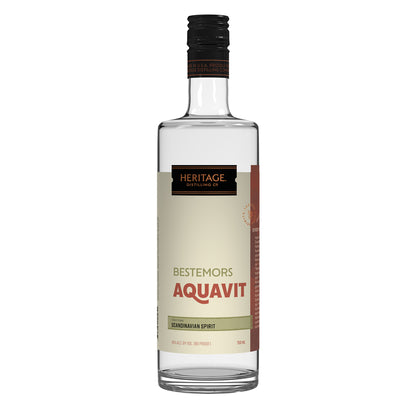 A 750ml bottle of HDC Bestemors Aquavit.