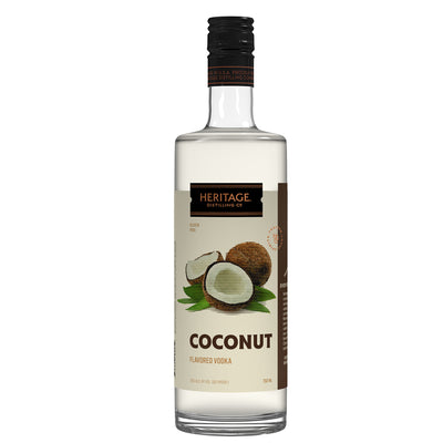 A 750ml bottle of HDC Coconut Vodka.